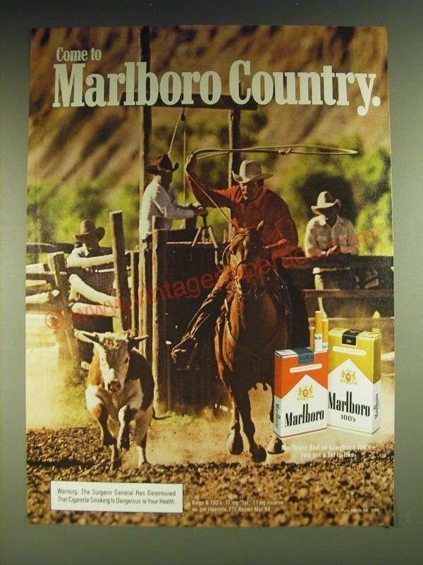 7f55524dfb139 1984 Marlboro Cigarettes Ad - Come to Marlboro Country