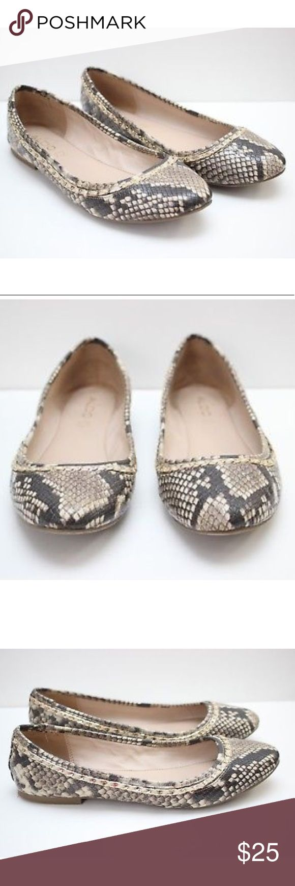 Aldo Brown Tan Brown Animal Print Ballet Flats Aldo Brown Tan Brown Snake Skin Animal Print Ballet Flat Shoes. Size 9. Aldo Shoes Flats & Loafers