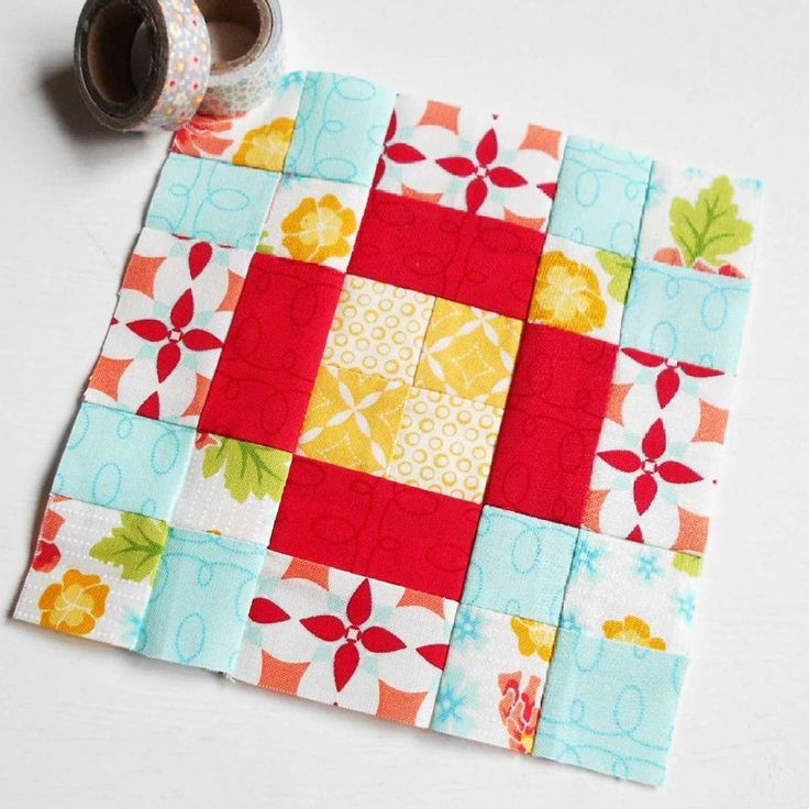 The Splendid Sampler Block no. 95 - Sunshine.  Patchwork at its best - simple, easy and very pretty.