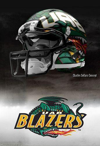 UAB  Football Helmet. Liking these new helmets