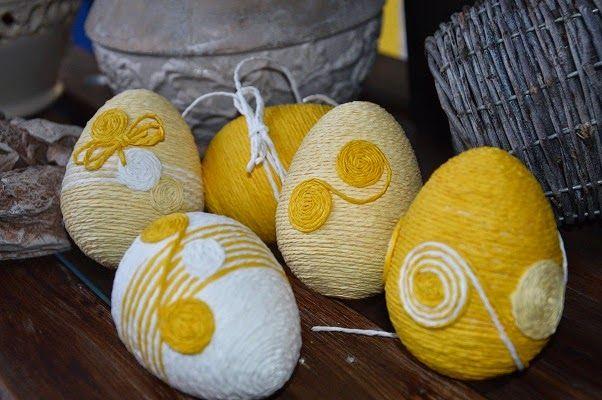 żółte pisanki