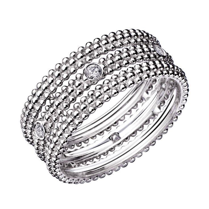 Mauboussin Bague Le Premier Jour, or blanc, diamants, 1 rang pavé - CHF 17000