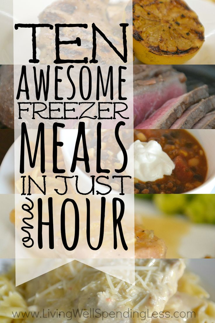 Need a simple dinner solution for busy weeknights?  With this quick  easy freezer meal plan you can whip up TEN delicious dinners in about an hour!  All five recipes in the plan have been family-approved, are easy to cook, and use everyday budget-friendly ingredients. This super helpful post includes everything you need, including a printable shopping list, printable prep  prepare instructions, printable labels, and five delicious recipes!