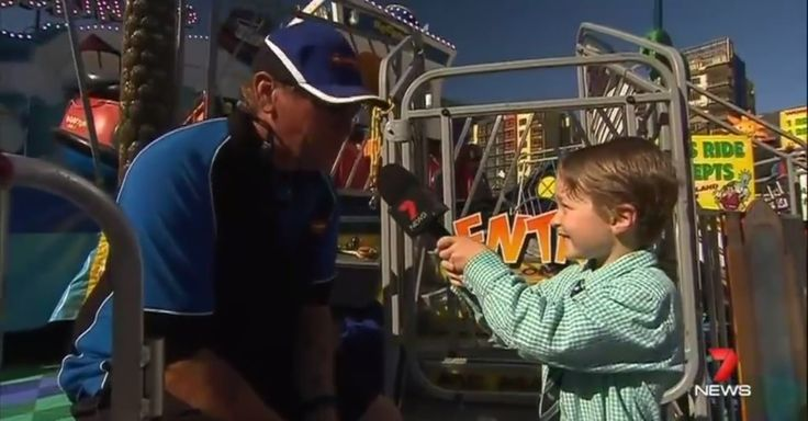 7-year-old becomes adorable guest correspondent on Australian news