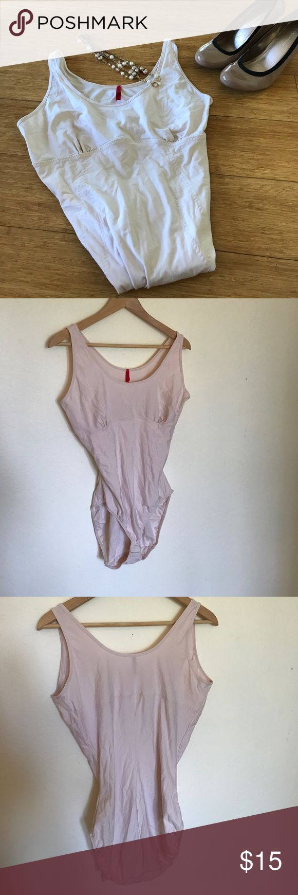 "Spanx Nude Blush Shapewear BodySuit sz 3X Spanx BodySuit Shapewear in Nude/Blush color. Size 3X (approx 18 20 22) Great for under a dress! Made of ""SpoilMe Cotton"".  EUC. Pet Friendly Home. Bundle & Save with some of my other plus size listings! 14 16 18 20 0X 1X 2X  SPANX Intimates & Sleepwear Shapewear"