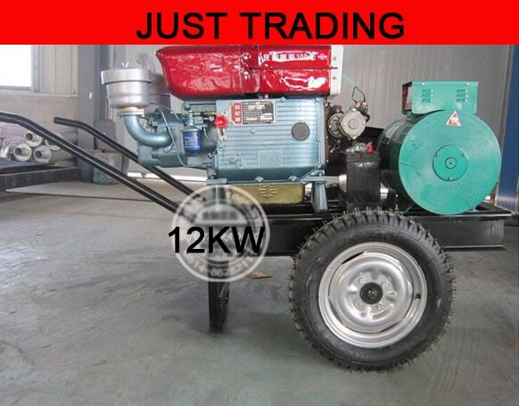 1660.00$  Watch now - http://alicu6.shopchina.info/1/go.php?t=32724382842 - Home,farm using small mini type,removable 12KW diesel engine generator set  #aliexpresschina