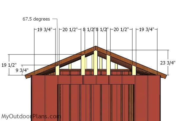 10x10 Gable Shed Roof Plans Myoutdoorplans Free Woodworking Plans And Projects Diy Shed Wooden Playhouse Pergola Bbq Pergola Shed Roof Roof Plan