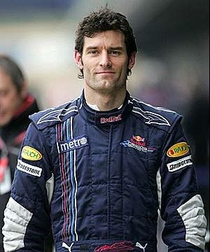 ...Mark Webber. My favourite F1 driver