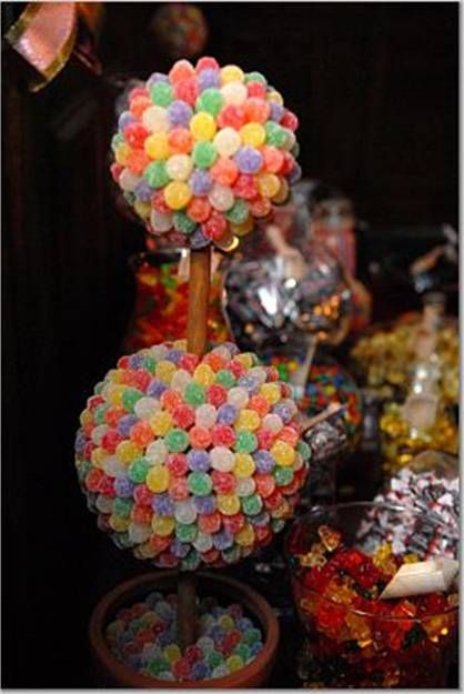Best food candy topiary centerpieces images on pinterest