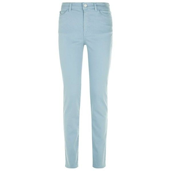 Armani Jeans J18 Dahlia Slim Jeans found on Polyvore featuring jeans, pants, bottoms, slim fit jeans, straight-leg jeans, light weight jeans, stretch denim jeans and slim blue jeans