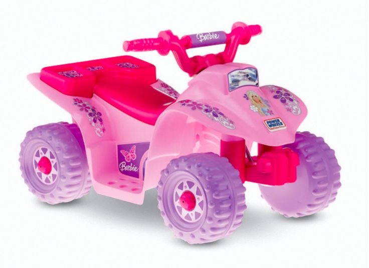 Toys For Girls 1 3 : The power wheels lil quad quot barbie mobile will let your