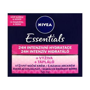 Nivea Essentials Nourishing 24h Intensive Hydrating Night Cream for Dry to Sensitive skin 50ml 1.69 fl oz