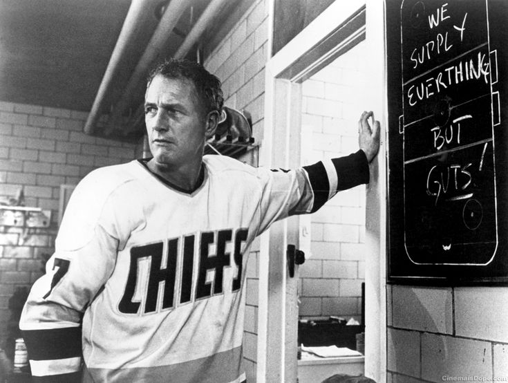 Player/coach Reg Dunlop (played by Paul Newman) from the Charlestown Chiefs in the movie Slap Shot (1977)