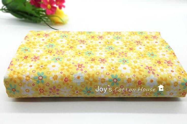 50 cm * 150 100% Katoen Geel Verse Bloemen Bloemen Pastorale Stof DIY Naaien Kussens Kleding Beddengoed Textiel Vrouwen Ambachten doek