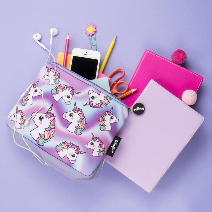 Unicorn pencil case. Cute back to school organiser. Ideal as travel/make-up bag.
