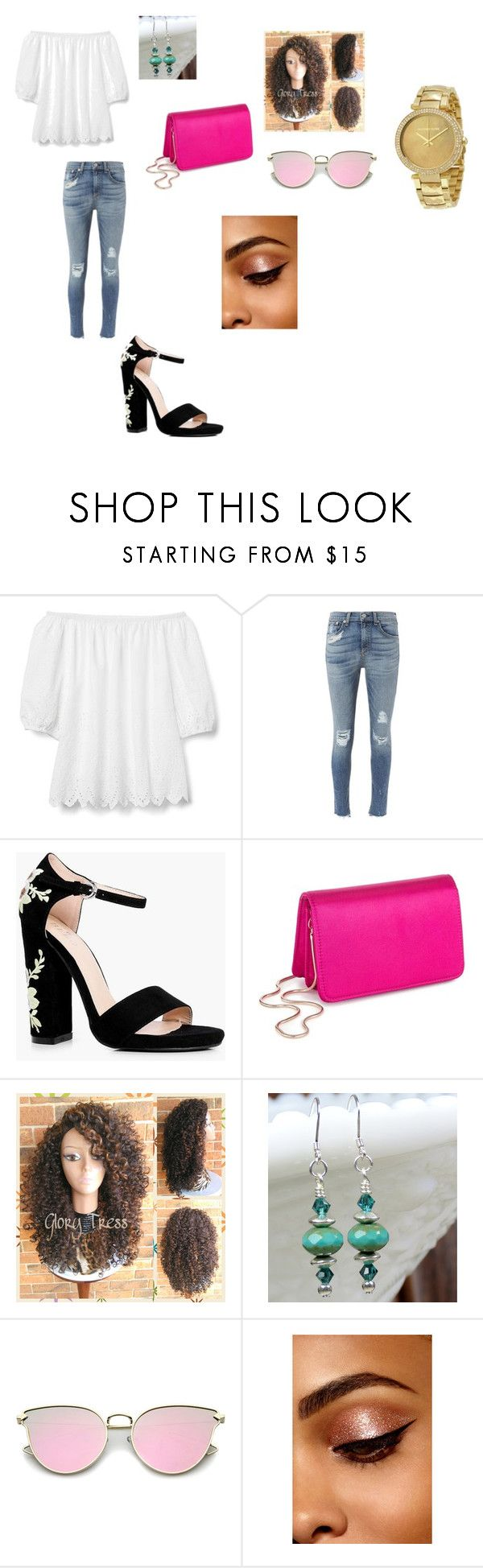 """birthday dinner outfit #yomato"" by msclarke ❤ liked on Polyvore featuring Gap, rag & bone, Boohoo, Miss Selfridge and Michael Kors"