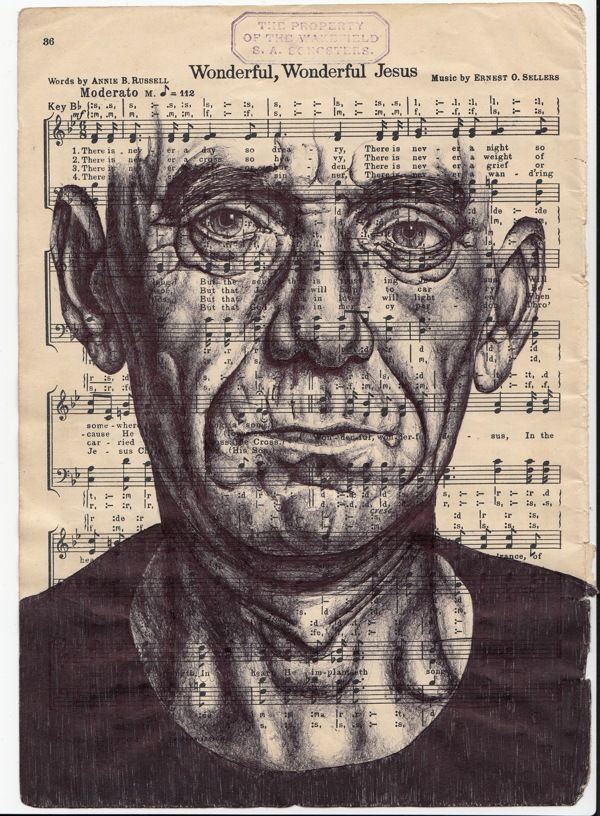 A small selection of Bic biro ballpoint pen drawings. by mark powell, via Behance