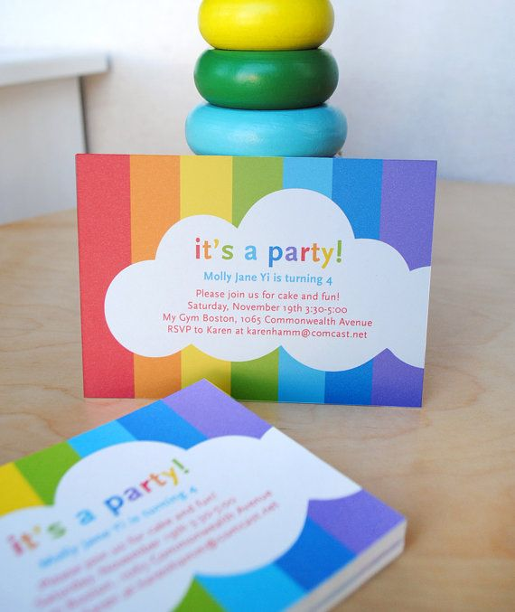 Somewhere Over the Rainbow Birthday Party by AlmostSundayInc, $18.00