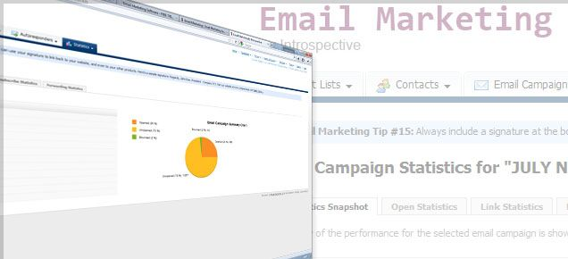 Email Marketing Campaigns   http://www.introspective.co.uk/internet-marketing/email-marketing    Introspective Email Marketer is an all-in-one email marketing software package. The software has everything you will need to create eye-catching email templates which you can save, edit, send, track and ultimately increase revenue from.    Automatically follow up prospects with auto responders. Send personalised email messages to new leads as and when you decide.