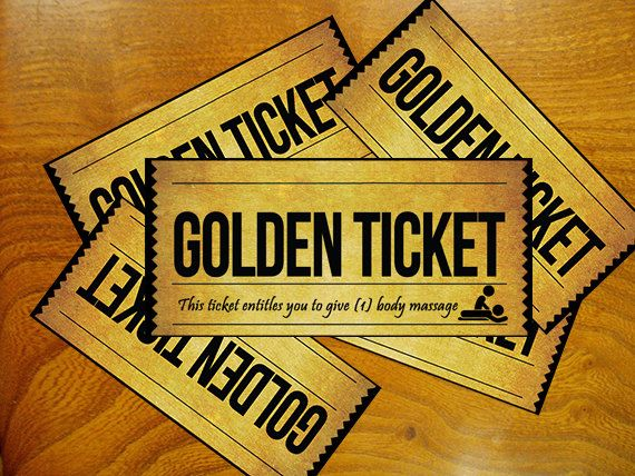 Golden Ticket Willy Wonka instant download by DomuzcukPrintables, $2.00