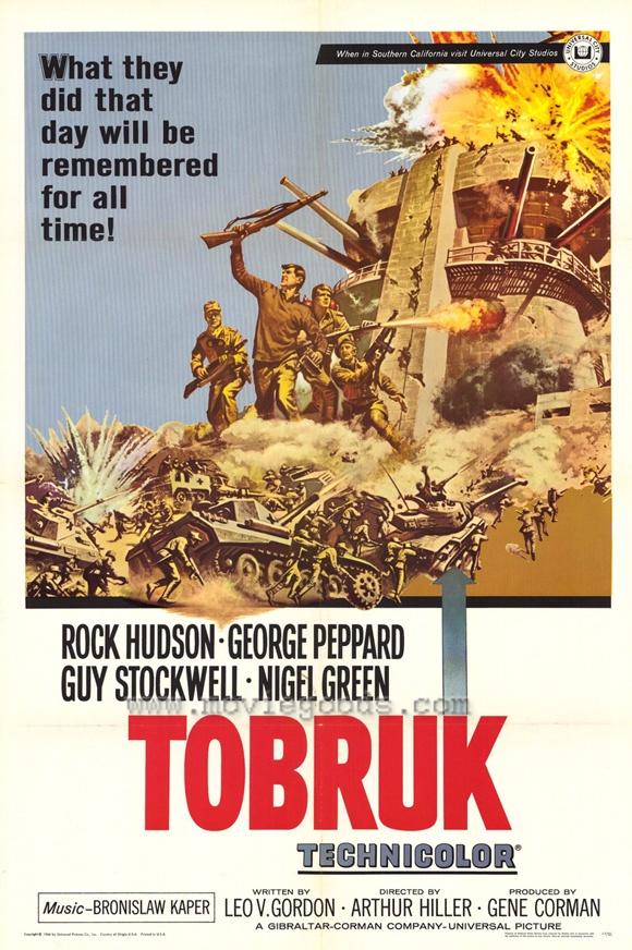 Tobruk Movie Posters #RockHudson #GeorgePeppard #GuyStockwell #NigelGreen