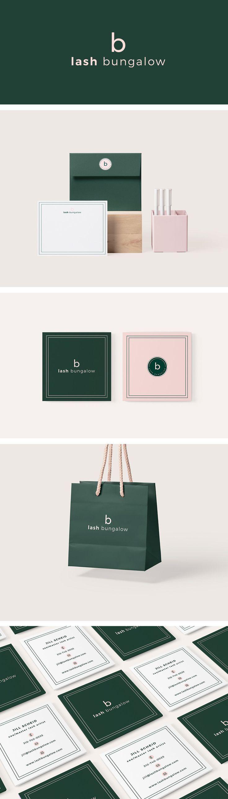 Lash Bungalow Branding - graphic design, branding, logo design, feminine design, web design, blog design, #graphicdesign, #designinspiration, #branding, #logodesign #brandingidentity