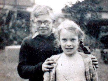 Brian with sister Barbara, circa 1951. | BRIAN JONES ...