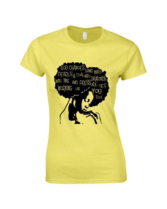 Word Power Afro Hair tshirt Natural Hair by NewTribeNewTradition, $25.00