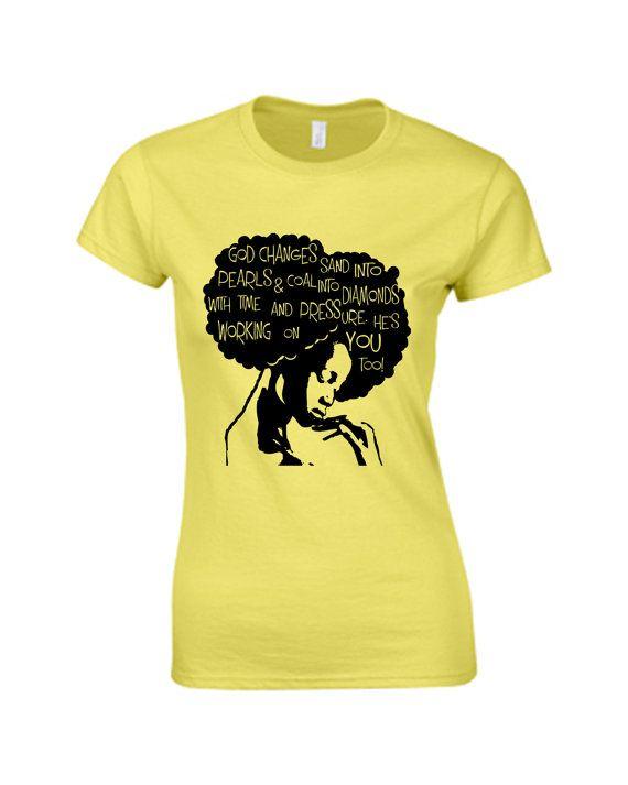 Word Power, Afro Hair t-shirt, Natural Hair T-shirt, Women's Blouse, Women's Tops, Rasta T-shirt, Graphic T-shirt