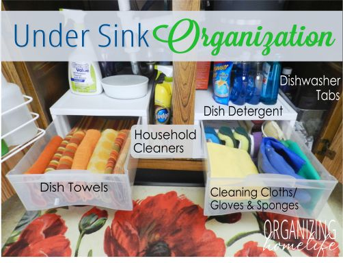 How to Organize Under Your Sink ~ Take care of and organize one of the areas that serious buyers WILL look!