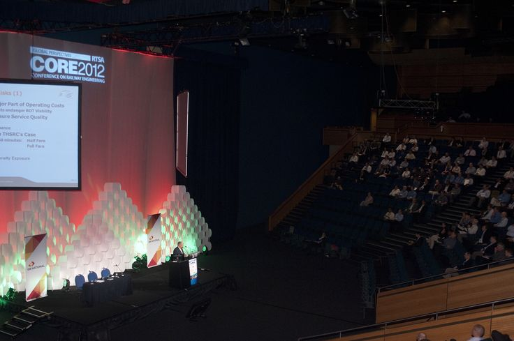 Stage set at CORE 2012 @ Brisbane Convention and Exhibition Centre