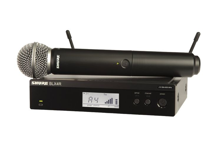 Shure BLX24R/SM58-H9 Wireless Vocal Rack Mount System with SM58 Handheld Microphone, H9