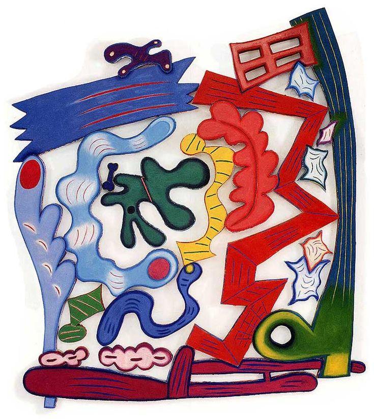 """Elizabeth Murray """"Worm's Eye"""" 2002, Oil on canvas"""