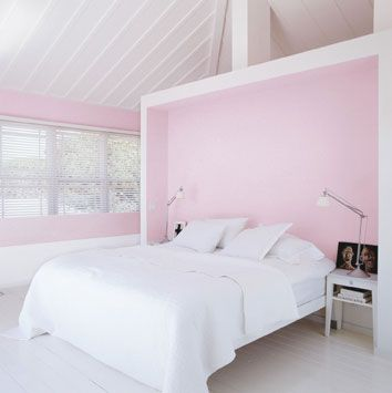 This is the color pink I have in our mb and its gorgeous without being over the top girly.: Coco Chanel, Wall Art Decal, Soft Pink, Pink Rooms, White Bedrooms, Pink Wall, Rooms Dividers, Pink Bedrooms, Art Wall