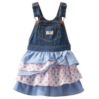 OshKosh B'gosh Tiered Denim Jumper - Toddler Girl