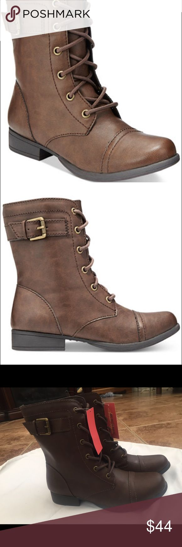 American Rag combat boots New with tags American Rag Shoes Combat & Moto Boots