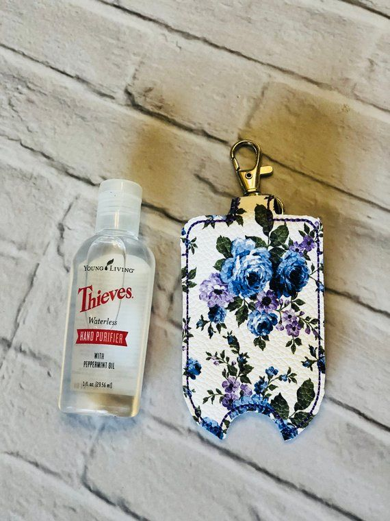 Farmhouse Blue Purple Rose Young Living Thieves Hand Purifier