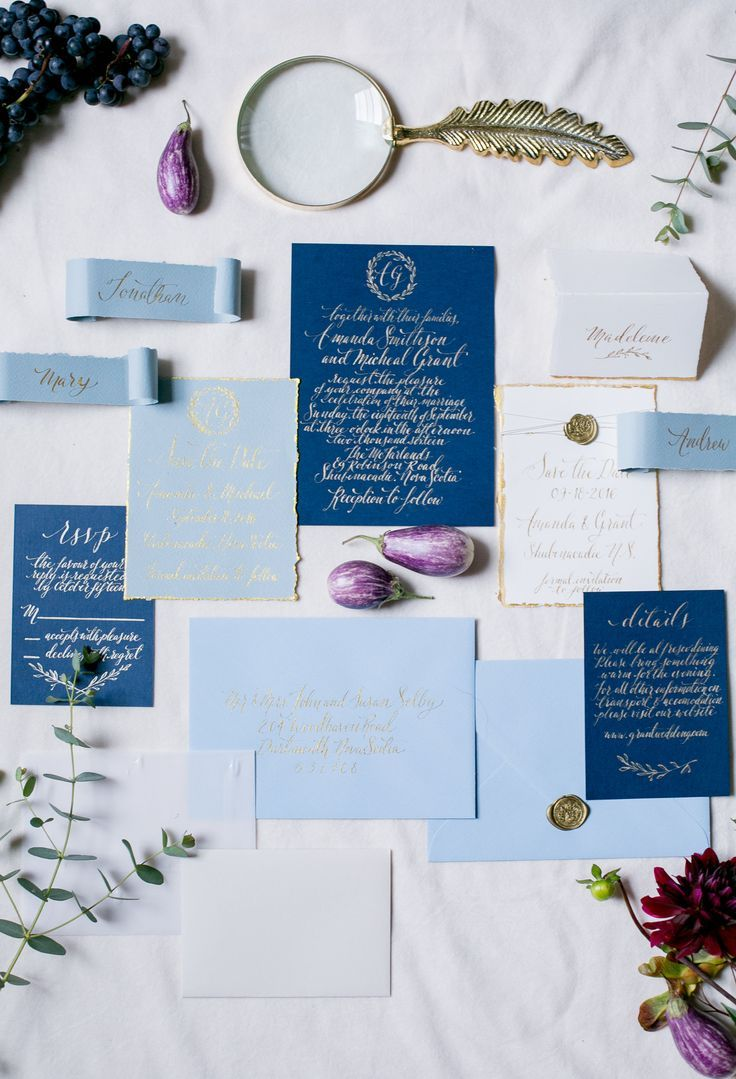 classic calligraphy wedding stationery suite