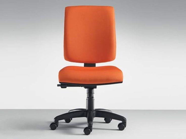 Sedia ufficio operativa ad altezza regolabile con ruote 300 | Sedia ufficio operativa - MASCAGNI
