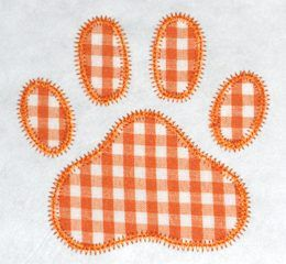 Free paw print applique in 5 sizes