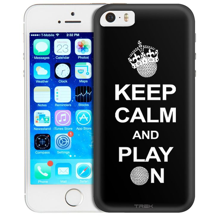 Apple iPhone SE KEEP CALM And Play On - Golf on Black Trans Case