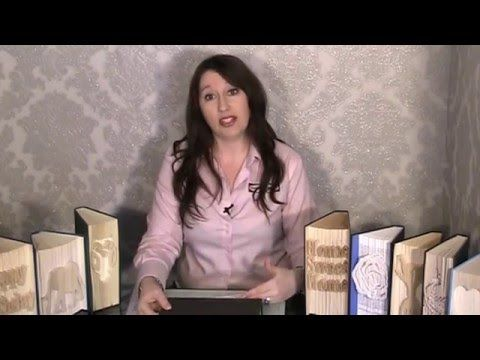 Tutorial CUT &  FOLD BOOK SCULPTURE by Debbie Moore - YouTube