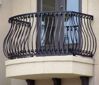 wrought iron decks | Aluminum Balcony Railing, Bellowed railing,scroll railing