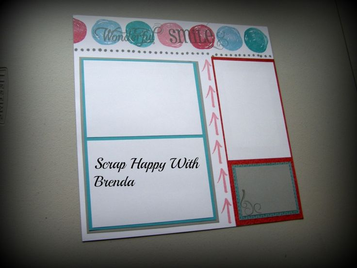 Scrap Happy With Brenda: How To Save Paper On A Layout.