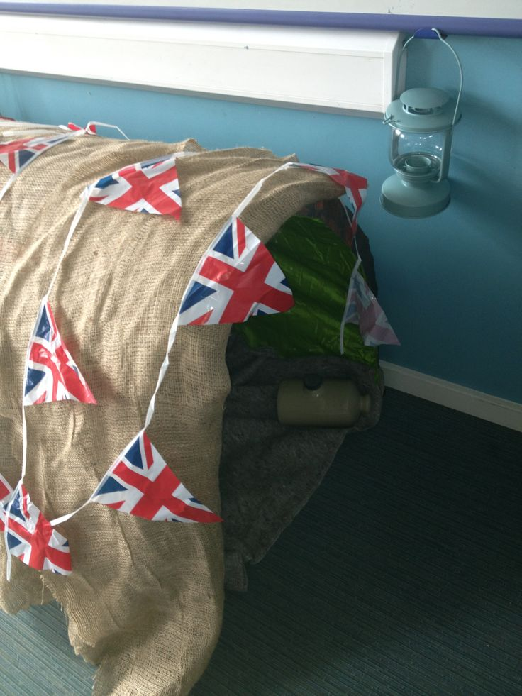 how to make an anderson shelter in the classroom