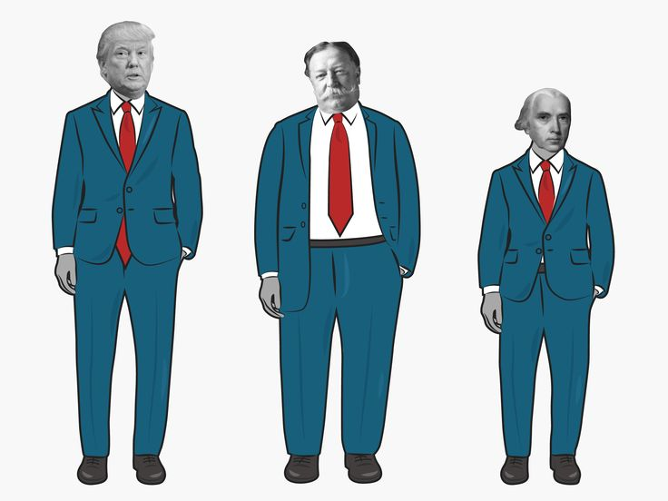 This gif shows all of the US presidents in order of height ...