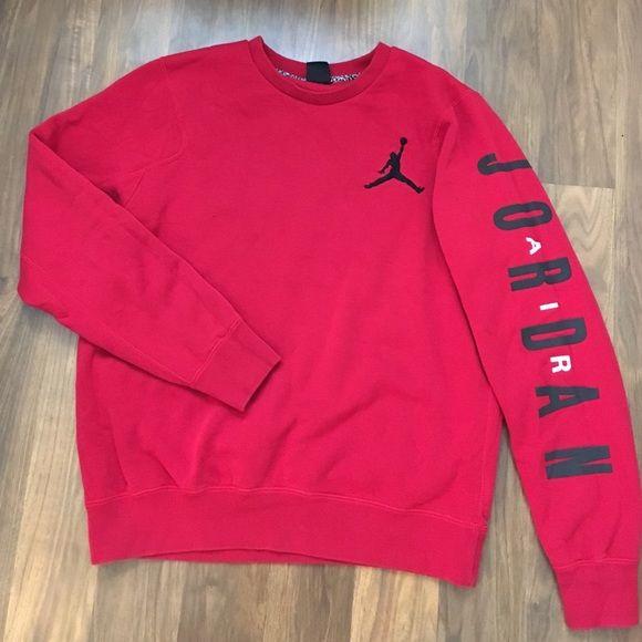Jordan sweatshirt Basically brand new. Only worn a couple times. Men's size large Jordan Tops Sweatshirts & Hoodies
