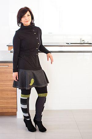 Legging équinoxe pomme, jupe kiwi pomme et boléro attachant noir. Les leggings originaux ont la cote, surtout quand ils peuvent être portés de différentes façons! Notre legging équinoxe est intéressant à porter avec: tunique orchidée, jupe kiwi, boléro attachant, jupe juponette, chandail douillet, veste idéale, redingote migration, etc! www.rienneseperd.com