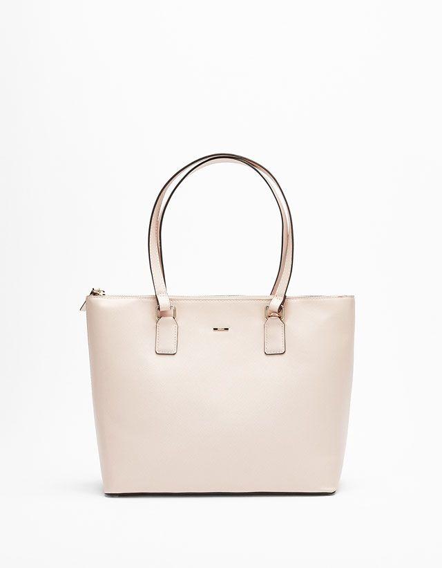 Zip Fastened Tote Bag from Bershka £22,99