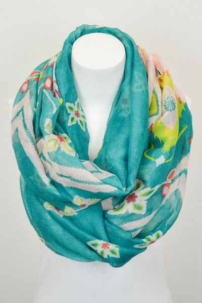 Catch Bliss Boutique - Ikat Scarf in Teal, $16.00 (http://www.catchbliss.com/ikat-scarf-in-teal/)